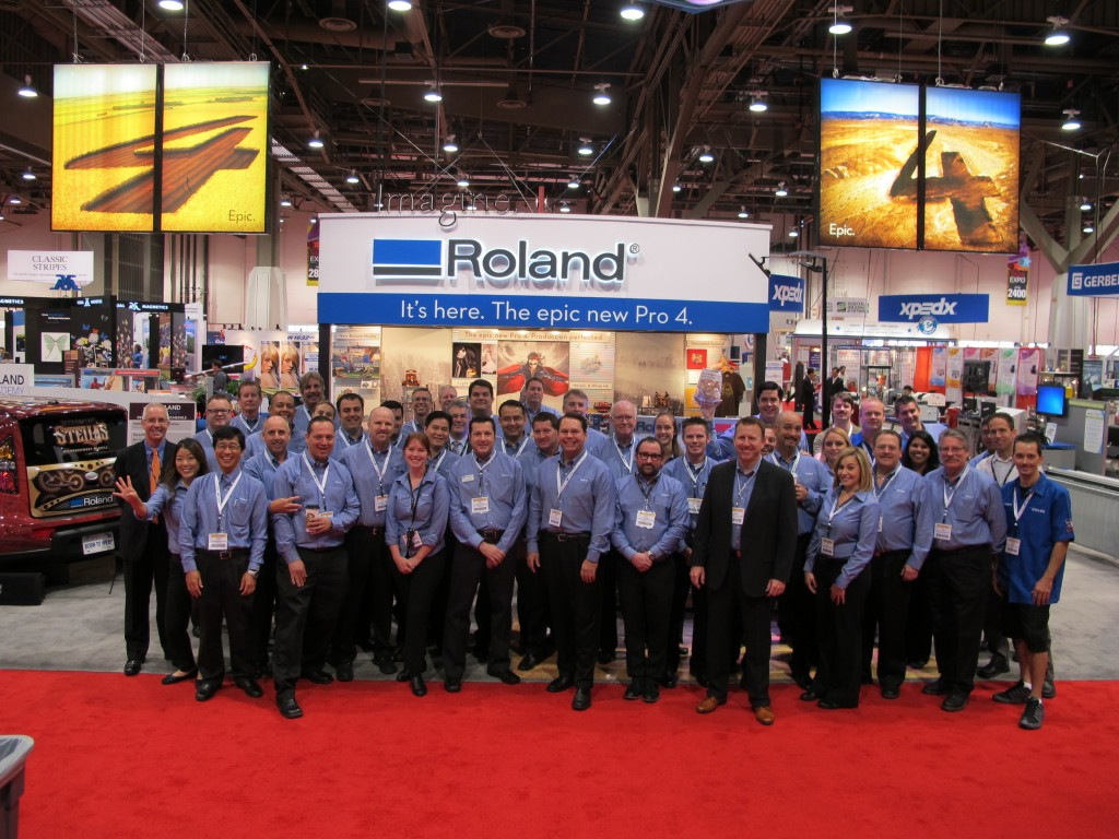 Roland team fired up and ready for the show!