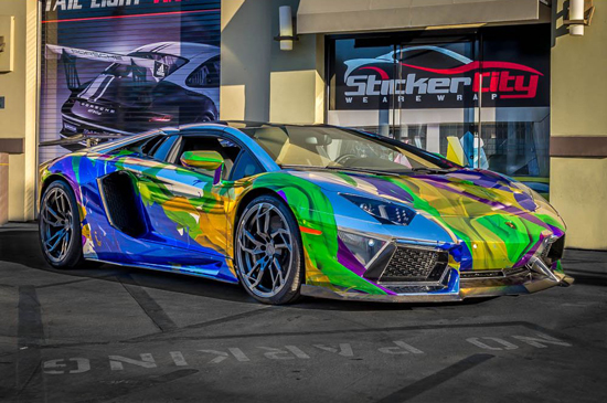 vehicle wrap Lamborghini Aventador Roadster