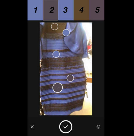 Adobe Photoshop color of dress