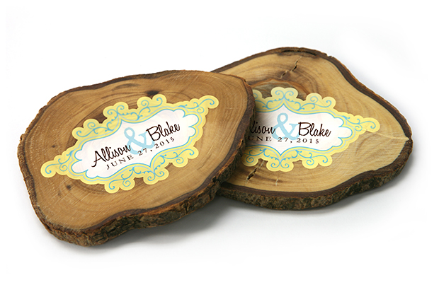 flatbed printing wedding wood coasters