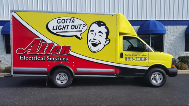 vehicle wrap allen electrical