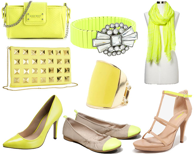 Neon fashion accessories